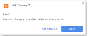 A browser plugin asking to access the User Level Context